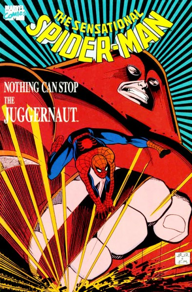 Sensational spider man nothing can stop the juggernaut cover