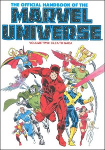 0800 Official Handbook of the Marvel Universe Vol 2