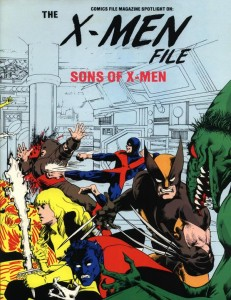 0848 Comics File Magazine Spotlight on the X-Men Sons of the X-Men